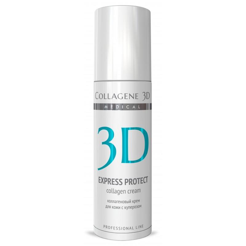 MEDICAL COLLAGENE 3D Крем с коллагеном и софорой японской для лица / Express Protect 150 мл проф.