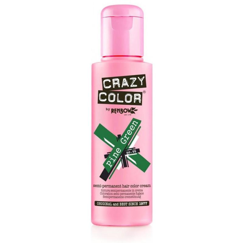 CRAZY COLOR Краска для волос, елово-зеленый / Crazy Color Pine Green 100 мл