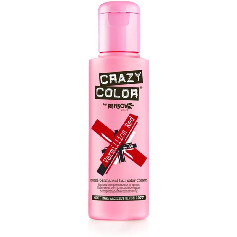 CRAZY COLOR Краска для волос, темно-красный / Crazy Color Vermillion Red 100 мл