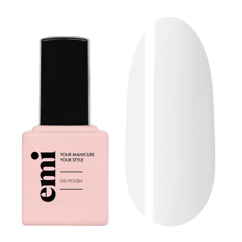 E.MI 001 гель-лак для ногтей, Белый лотос / E.MiLac 9 мл