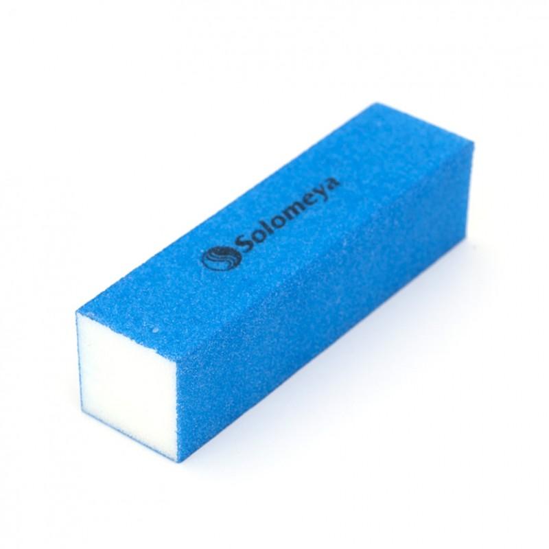 SOLOMEYA Блок-шлифовщик для ногтей, синий/ Blue Sanding Block