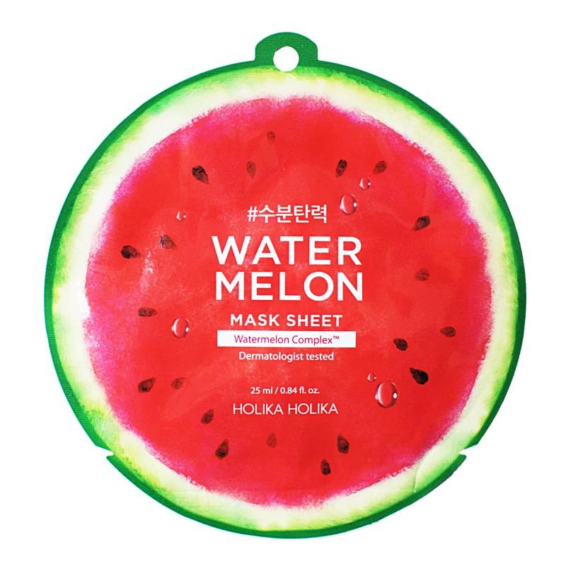 HOLIKA HOLIKA Маска тканевая увлажняющая для лица, арбуз / Watermelon Mask Sheet 25 мл