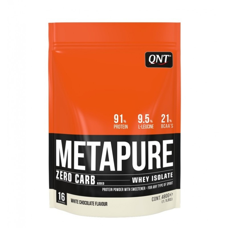 QNT Добавка биологически активная к пище Метапьюр зеро карб, белый шоколад / ZERO CARB METAPURE White Chocolate 480 г