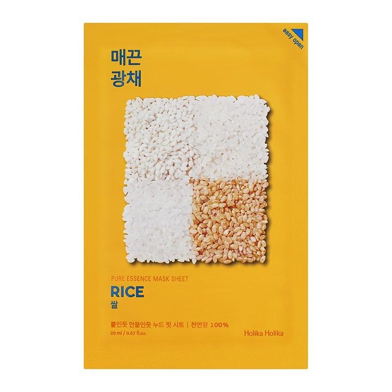 HOLIKA HOLIKA Маска тканевая против пигментации Пьюр Эссенс, рис / Pure Essence Mask Sheet Rice 20 мл