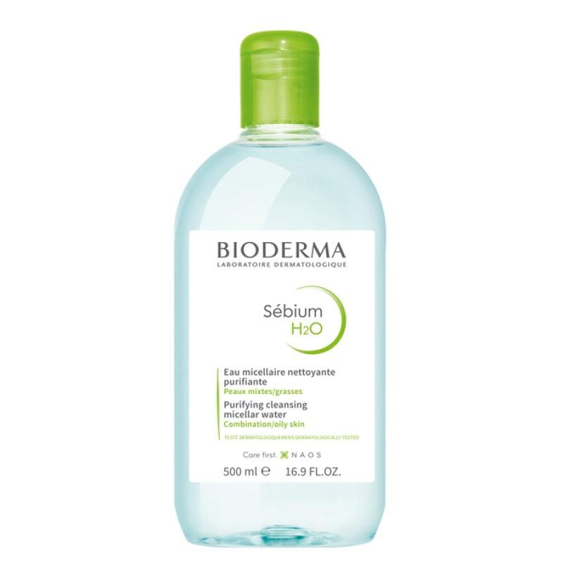 BIODERMA Вода мицеллярная себиум / Н2О 500 мл