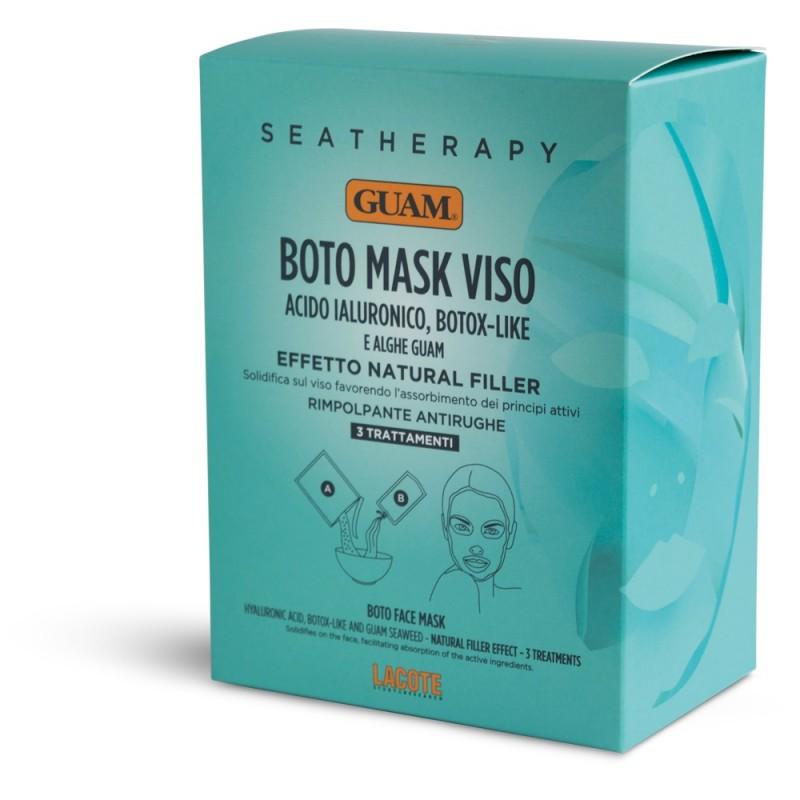 GUAM Маска для лица с гиалуроновой кислотой и водорослями Ботокс эффект / SEATHERAPY (3 х 20 г + 40 мл)