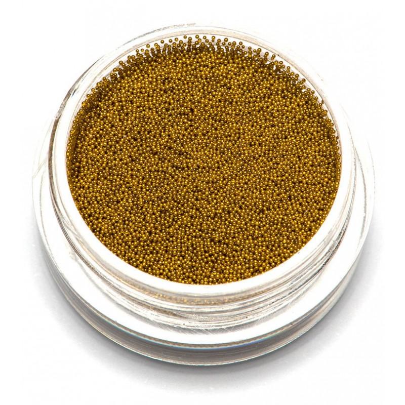 TNL PROFESSIONAL Бульонки супер мелкие, золото 0,2 мм 3 г