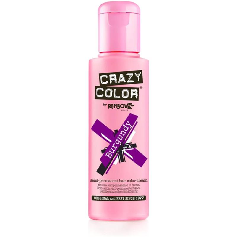 CRAZY COLOR Краска для волос, бургунди / Crazy Color Burgundy 100 мл