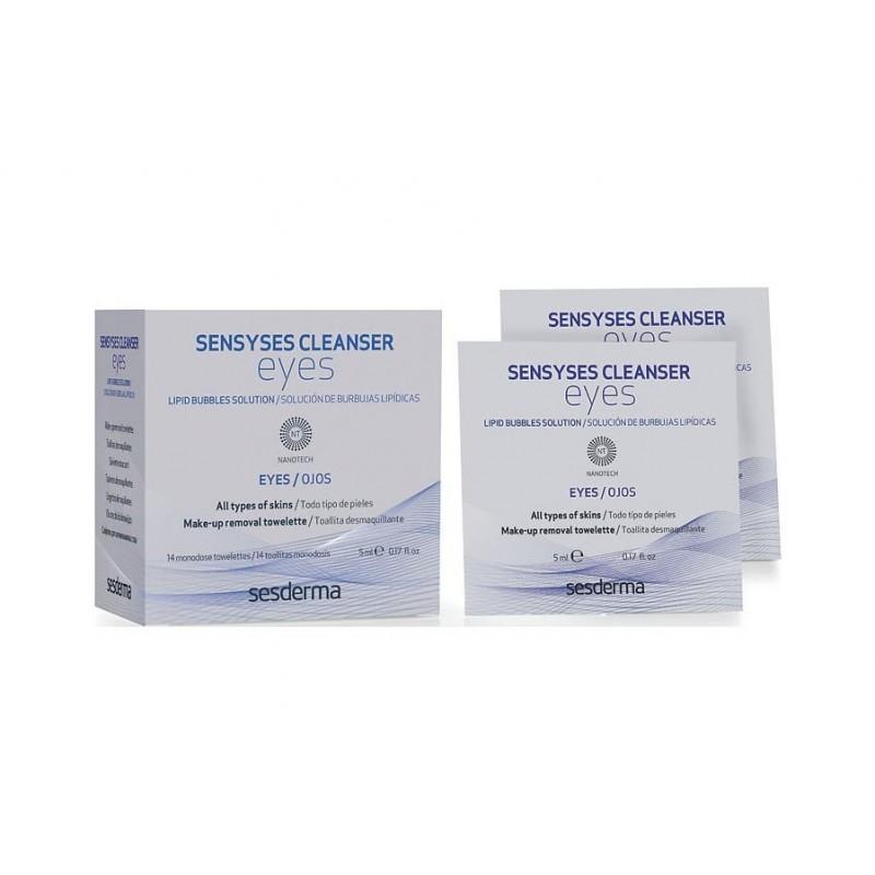 SESDERMA Салфетки для снятия макияжа с глаз / SENSYSES CLEANSER Eyes 14 шт