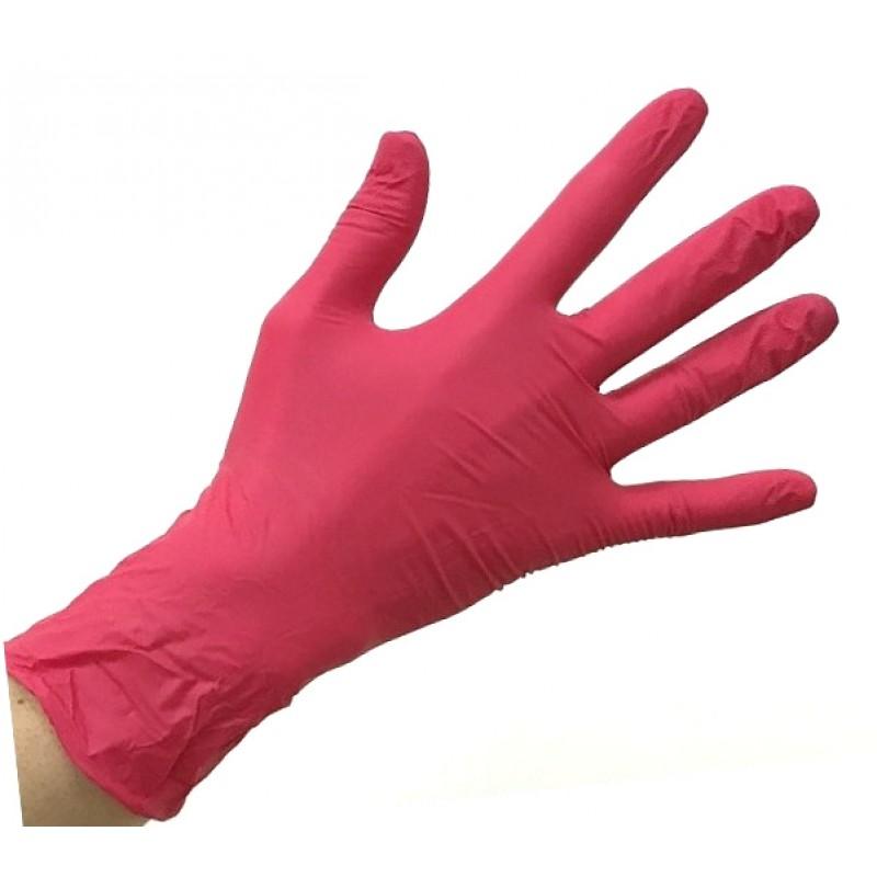SAFE & CARE Перчатки нитриловые, красные, размер М / Safe & Care 100 шт