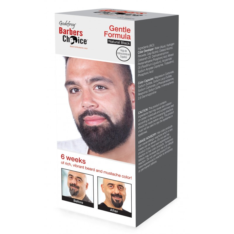 GODEFROY Набор Камуфляж бороды, натурально-черный / Barbers Choice Natural Black 145 г