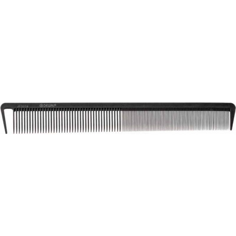 DEWAL PROFESSIONAL Расческа рабочая комбинированная, микрофибра с силиконом, с разделительным зубцом, антистатик (серая) 21,5 cм