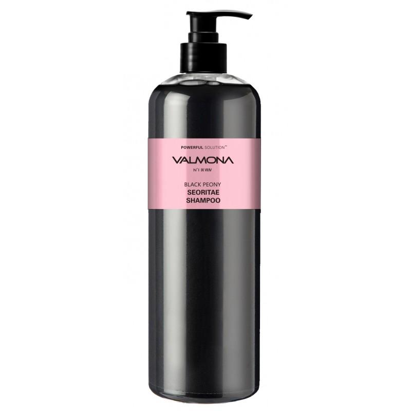 EVAS Шампунь для волос Черный пион - бобы / VALMONA Powerful Solution Black Peony Seoritae Shampoo 480 мл