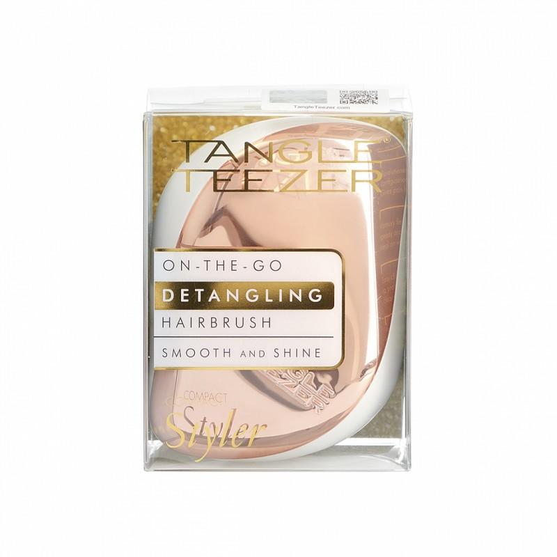 TANGLE TEEZER Расческа для волос / Compact Styler Rose Gold Luxe