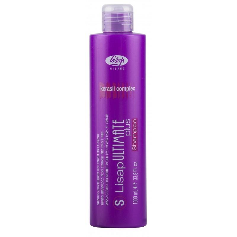 LISAP MILANO Шампунь с разглаживающим действием для гладких или вьющихся волос / S-LISAP ULTIMATE PLUS 1000 мл