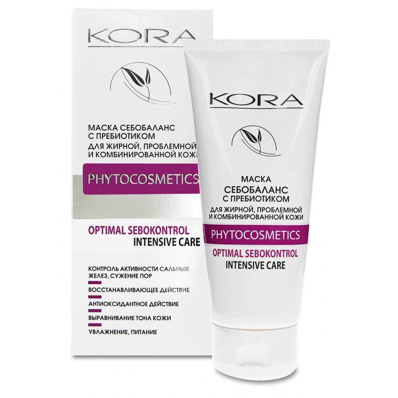 KORA Маска себобаланс с пребиотиком для жирной, проблемной и комбинированной кожи 100 мл
