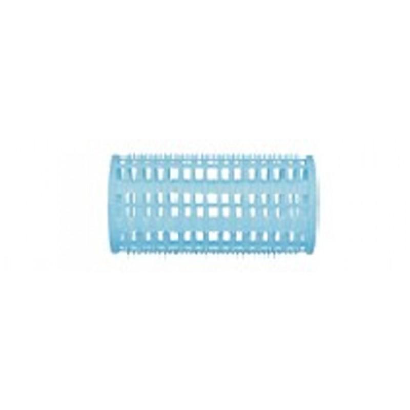 DEWAL BEAUTY Бигуди пластик голубые, d 38x76 мм 10 шт (в комплекте шпильки 80 мм)