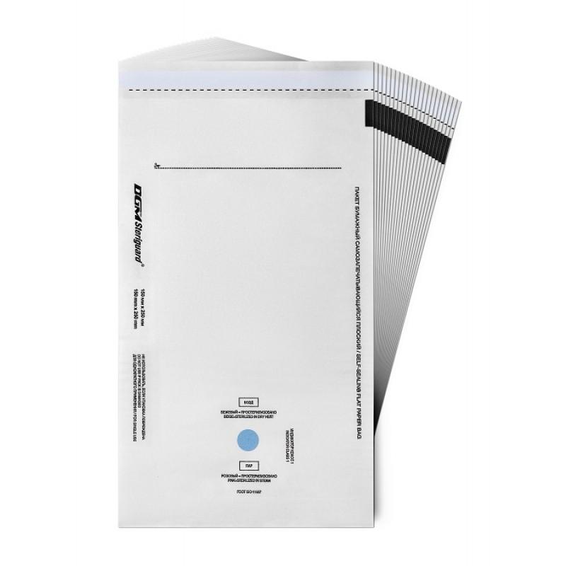 DGM Пакет бумажный самозапечатывающийся плоский для медицинской стерилизации / DGM Steriguard 150 х 250 мм 100 шт