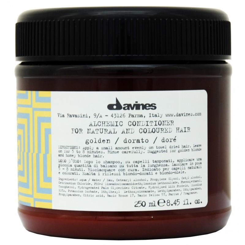 DAVINES SPA Кондиционер оттеночный для натуральных и окрашенных волос Алхимик, золотой / ALCHEMIC 250 мл
