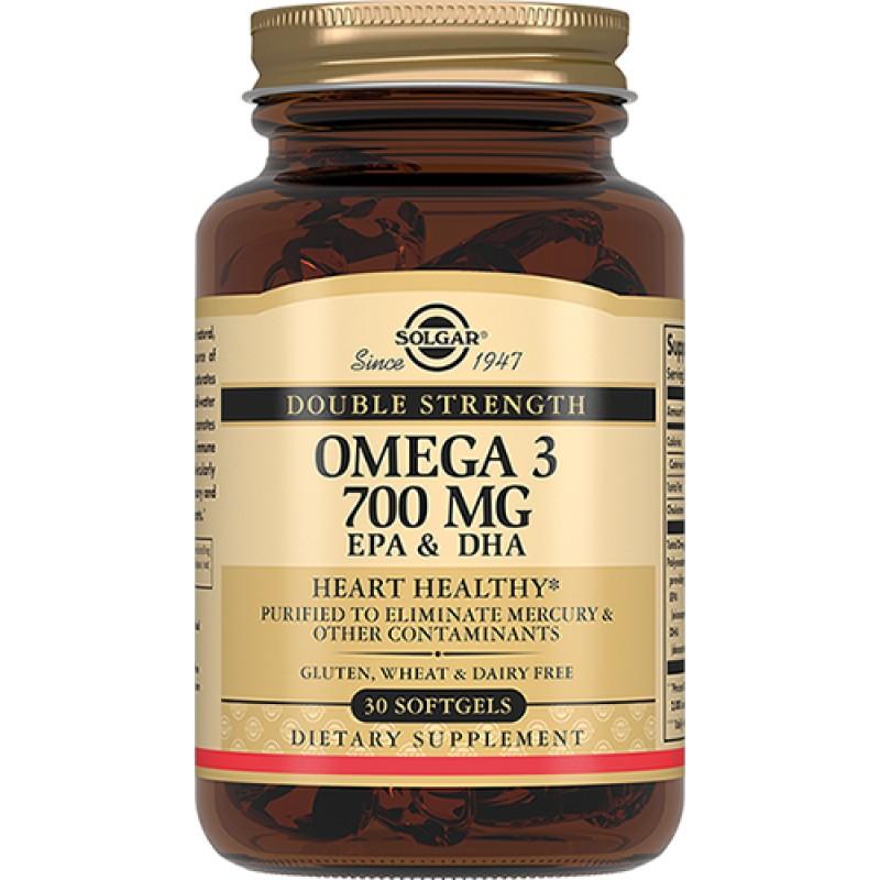 SOLGAR Двойная Омега-3 700 мг ЭПК и ДГК, капсулы № 30