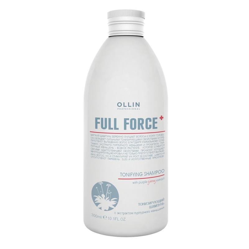 OLLIN PROFESSIONAL Шампунь тонизирующий с экстрактом пурпурного женьшеня / FULL FORCE 300 мл