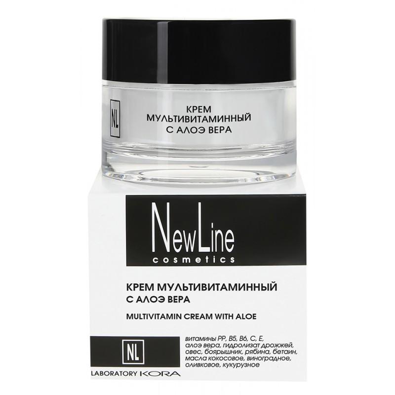NEW LINE PROFESSIONAL Крем мультивитаминный с алоэ вера 50 мл
