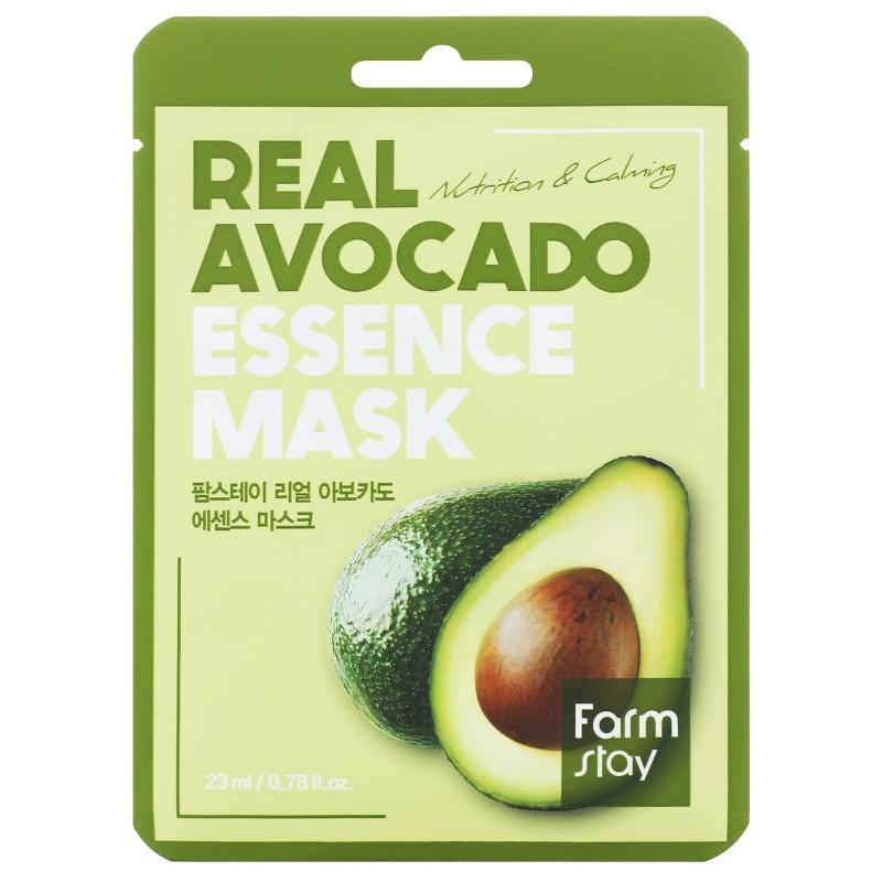 FARMSTAY Маска тканевая с экстрактом авокадо для лица 23 мл