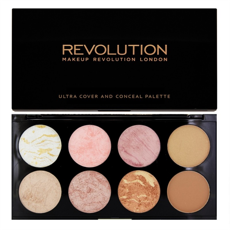 MAKEUP REVOLUTION Палетка румян для лица / ULTRA BLUSH PALETTE Golden Sugar