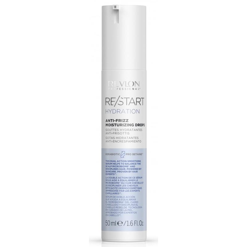 REVLON PROFESSIONAL Капли увлажняющие для смягчения волос / RESTART HYDRATION ANTI-FRIZZ MOISTURIZING DROPS 50 мл
