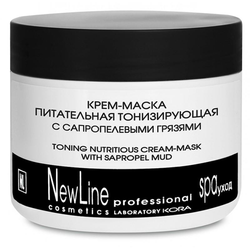 NEW LINE PROFESSIONAL Крем-маска питательная тонизирующая с сапропелевыми грязями 300 мл