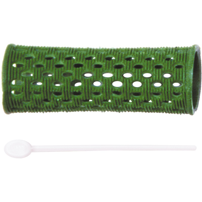DEWAL PROFESSIONAL Бигуди пластиковые зеленые d 26 мм 12 шт/уп