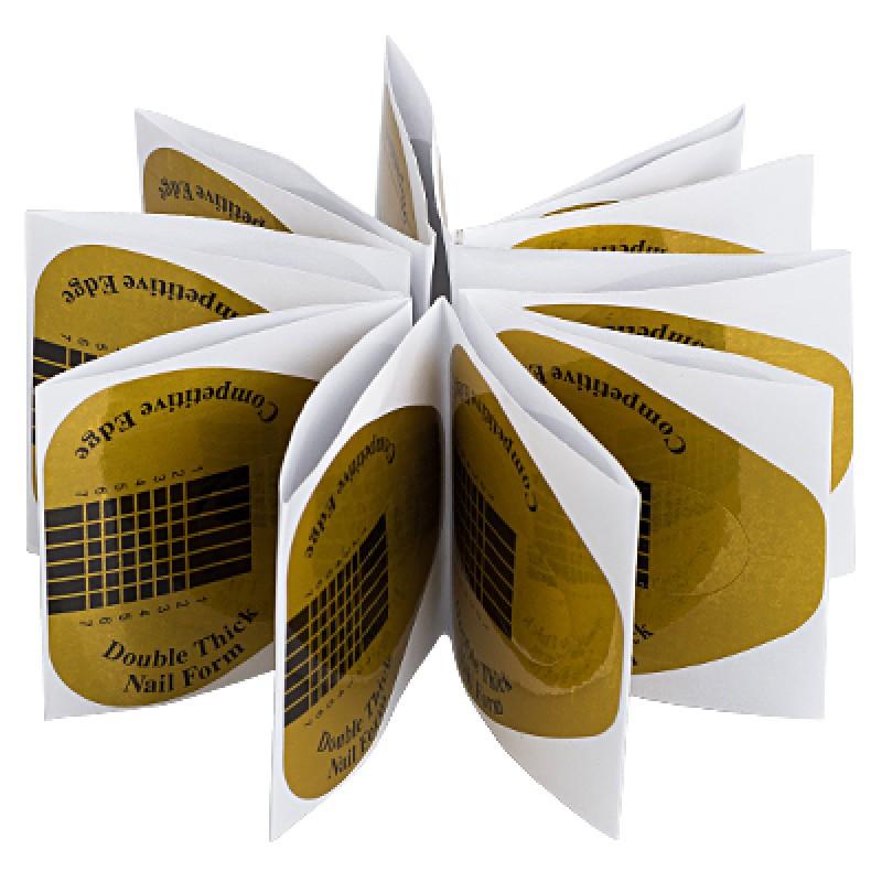 IRISK PROFESSIONAL Формы широкие золотые в пакете 20 шт
