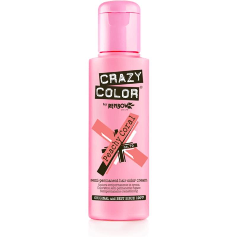 CRAZY COLOR Краска для волос, персиково-коралловый / Crazy Color Peachy Coral 100 мл
