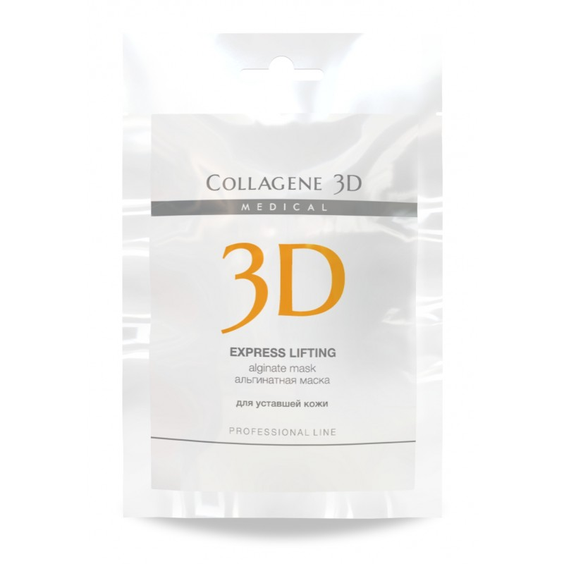 MEDICAL COLLAGENE 3D Маска альгинатная с экстрактом женьшеня для лица и тела / Express Lifting 30 г