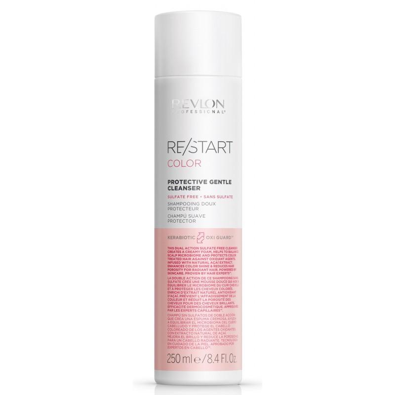 REVLON PROFESSIONAL Шампунь для нежного очищения окрашенных волос / RESTART COLOR PROTECTIVE GENTLE CLEANSER 250 мл