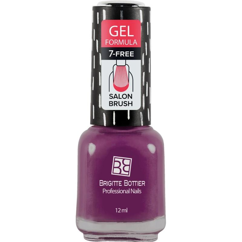 BRIGITTE BOTTIER 75 лак для ногтей гелевый, лилово-розовый / GEL FORMULA 12 мл