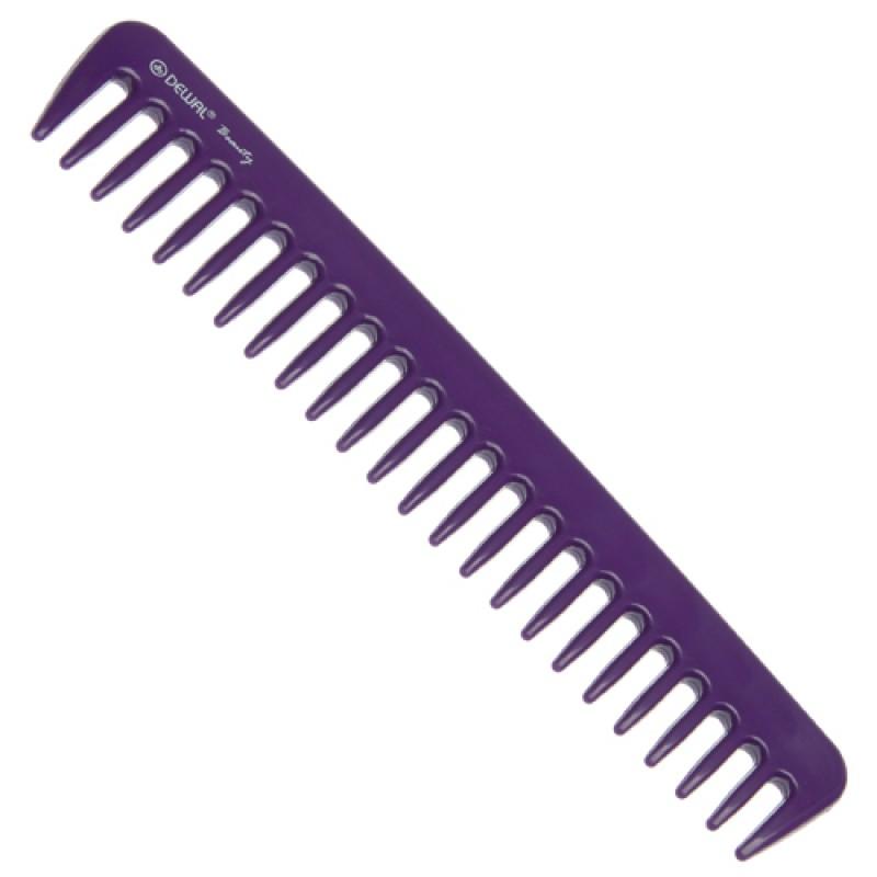 DEWAL BEAUTY Гребень фиолетовый 18 см