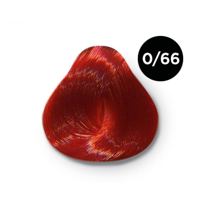 OLLIN PROFESSIONAL 0/66 краска для волос, корректор красный / OLLIN COLOR 100 мл