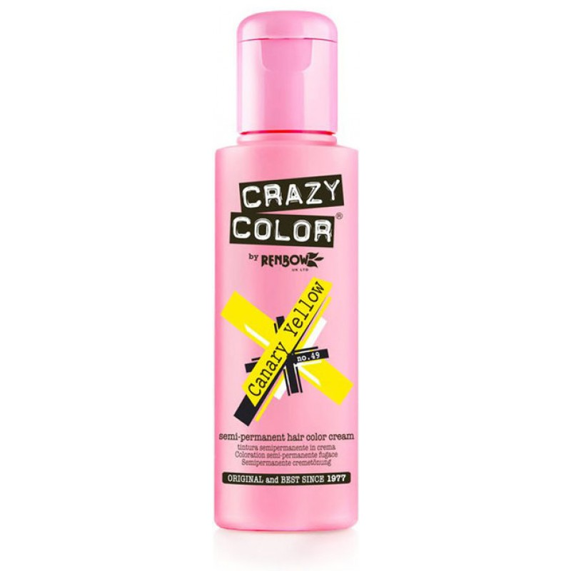 CRAZY COLOR Краска для волос, канареечно желтый / Crazy Color Canary Yellow 100 мл