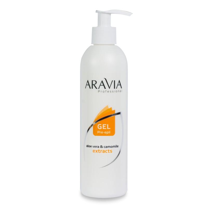 ARAVIA Гель с экстрактами алоэ вера и ромашки для обработки кожи перед депиляцией 300 мл