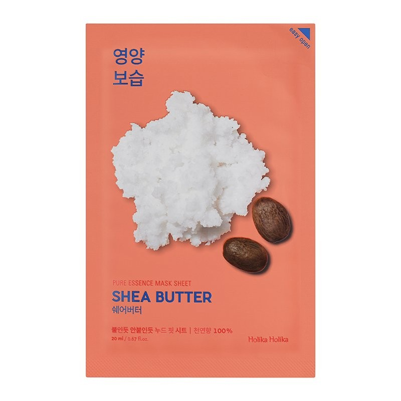 HOLIKA HOLIKA Маска тканевая питающая с маслом ши Пьюр Эссенс / Pure Essence Mask Sheet Shea Butter 20 мл