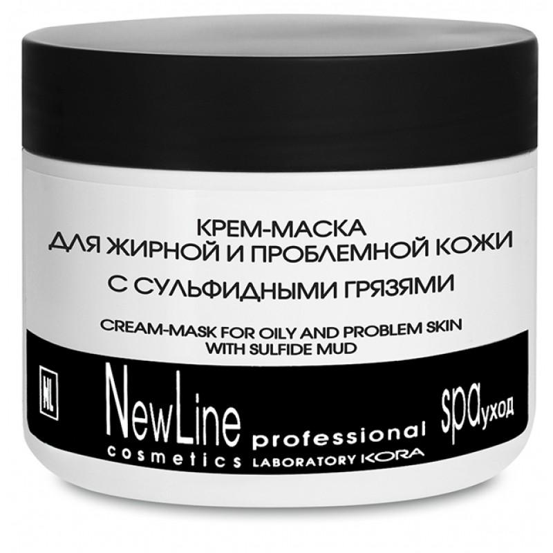 NEW LINE PROFESSIONAL Крем-маска с сульфидными грязями для жирной и проблемной кожи 300 мл