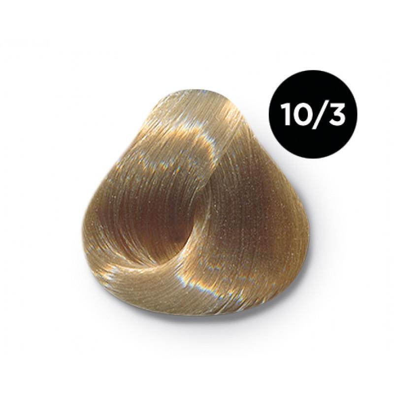 OLLIN PROFESSIONAL 10/3 краска для волос, светлый блондин золотистый / OLLIN COLOR 100 мл