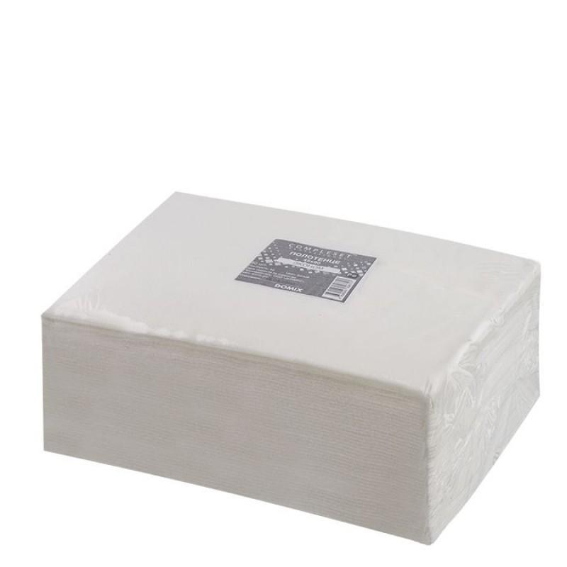 DOMIX Полотенце в сложении 45*90 см спанлейс 50 г/м2 белый 50 шт/уп