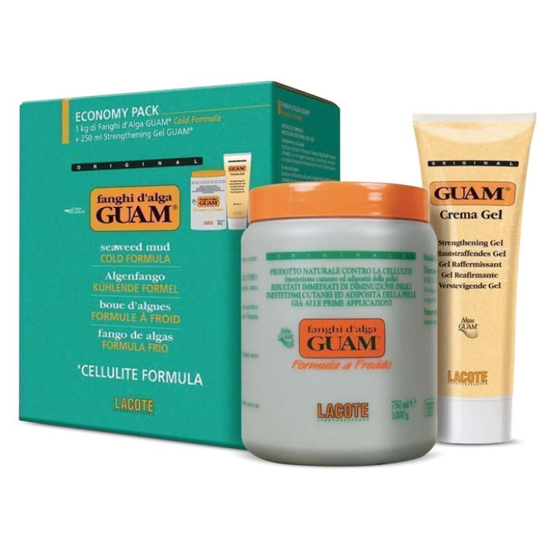 GUAM Маска антицеллюлитная с охлаждающим эффектом 1 кг + гель-лифтинг укрепляющий 250 мл / FANGHI D`ALGA