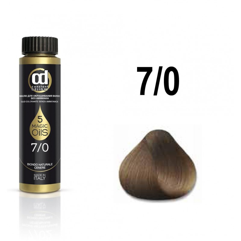 CONSTANT DELIGHT 7.0 масло для окрашивания волос, русый / Olio Colorante 50 мл