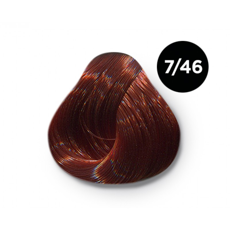 OLLIN PROFESSIONAL 7/46 краска для волос, русый медно-красный / OLLIN COLOR 100 мл