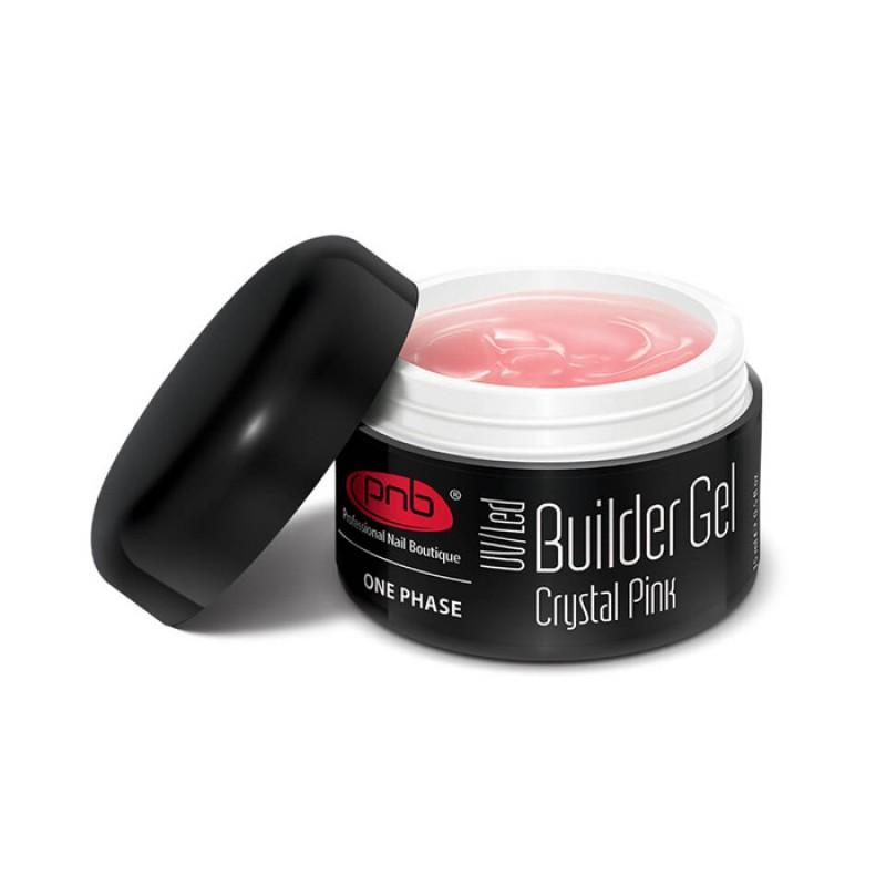 PNB Гель камуфлирующий розовый / Builder Gel Cover UV/LED, Pink 15 мл