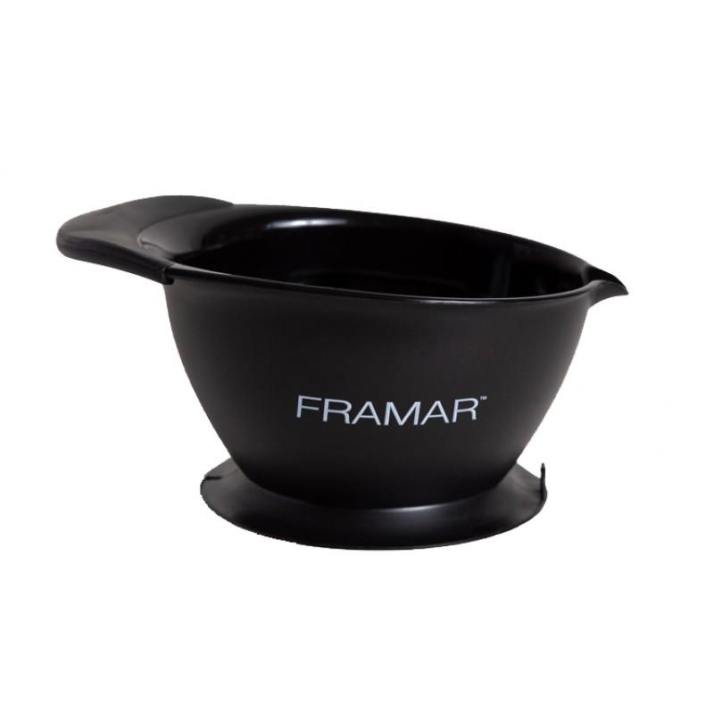 FRAMAR Миска для окрашивания, с основанием-присоской / SureGrip Suction Bowl Black 1 шт