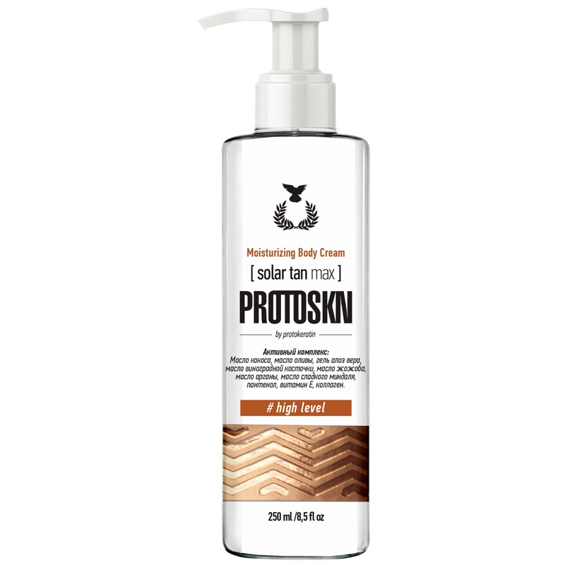 PROTOKERATIN Крем увлажняющий с эффектом загара 5% для тела / Moisturizing body cream solar tan max 5% 250 мл